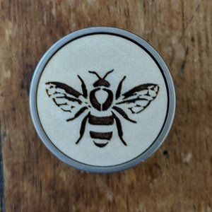 Two Honey Bee Drawer Knob / Pull Laser etched NWT